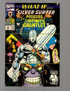 What If # 49 NM Marvel Comic Book Silver Surfer Infinity Gauntlet Avengers RB8