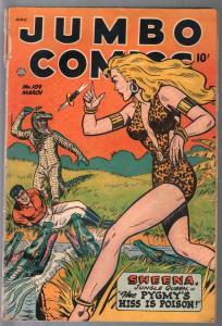 Jumbo #109 1948-Sheena full body portrait cover-GGA-Matt Baker-VG-