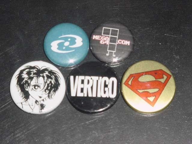 SAN DIEGO COMIC CON DC PIN PACK-VERTIGO-SUPERMAN-BUTTON