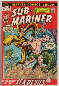 Sub-Mariner #54 (Oct-72) VF- High-Grade Sub-Mariner (Prince Namor)