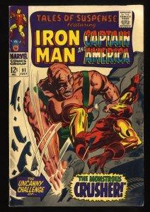 Tales Of Suspense #91 FN/VF 7.0 Iron Man