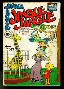 Jingle Jangle #34 1948- Famous Funnies- Funny Animals- G