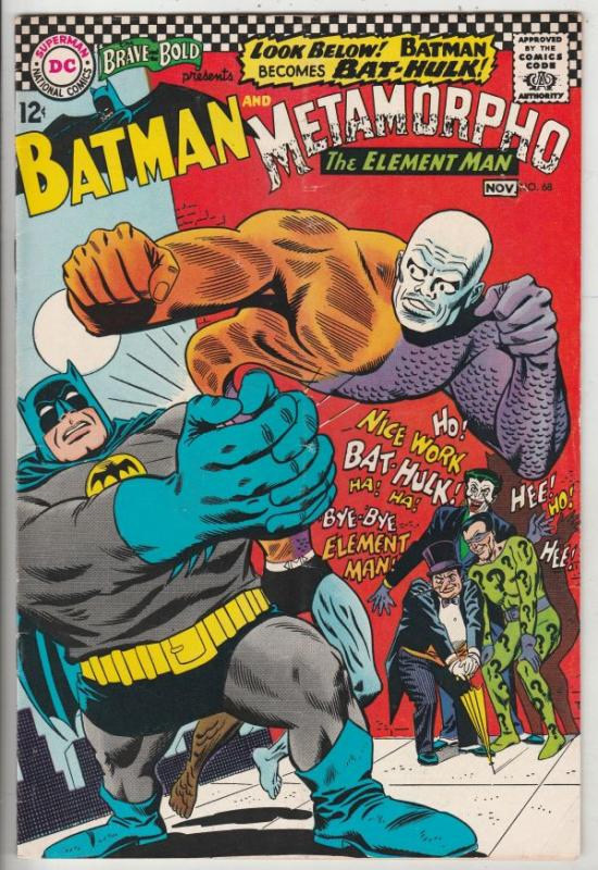 Brave and the Bold, The #68 (Nov-66) FN Mid-Grade Metamorpho, Batman