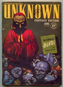 Unknown Pulp June 1940- Hubbard- British edition