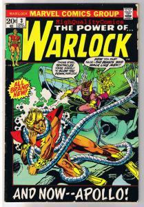 WARLOCK #3, VG, Power of, Gil Kane, Apollo,1972, Bronze age