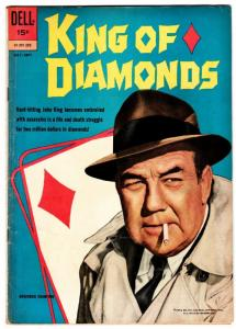KING OF DIAMONDS  1962-DELL-1ST ISSUE-BRODERICK CRAWFORD-CARDS-TV SERIES