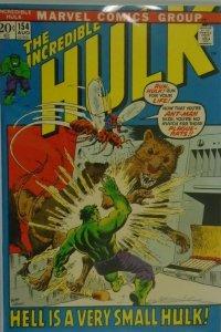 The Incredible Hulk #154 - 5.0 VG/FN - 1972