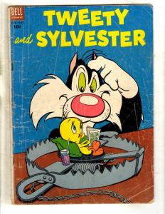 Tweety & Sylvester # 4 VG- Dell Golden Age Comic Book Cat Mouse Funny Anima JL15