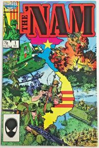 THE 'NAM 1 VF-NM  (1st Print) 1986 Doug Murray, Michael Golden classic tough