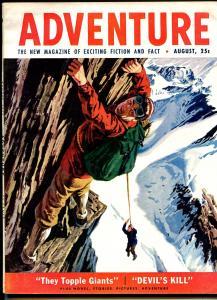 Adventure 8/1953-Popular-pulp fiction-pulp thrills-violence-crime-FN