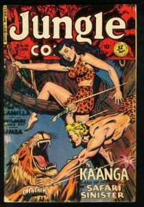JUNGLE COMICS #126 FICTION HOUSE-KAANGA-1950-SPICY G/VG