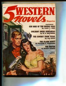 5 Western Novels-Pulp-2/1952-Barry Scobee-Paul L. Peil