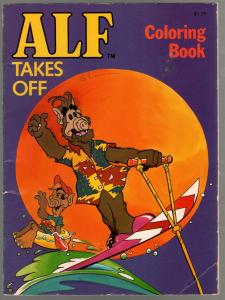 ALF Takes Off Coloring Book 1988-Marvel comics character-VG-