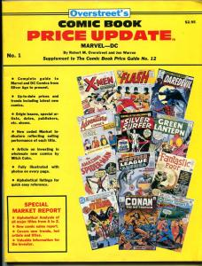 Overstreet's Comic Book Price Update #1 1982-price changes-market trends-VG