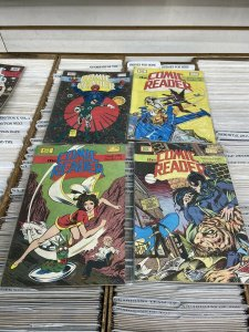 The Comic Reader - Lot Of 11 Issues Dated 1979-1980 Calssic