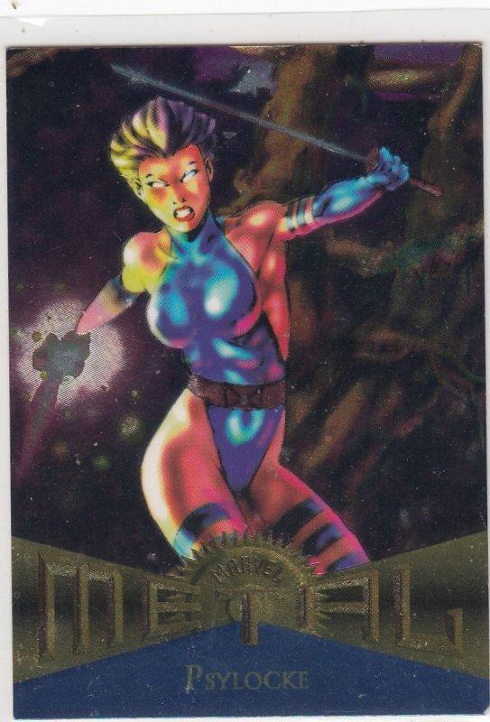 1995 Fleer Marvel Metal  PSYLOCKE  #112 Card