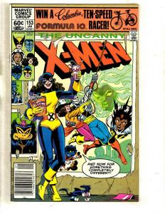 4 Uncanny X-Men Marvel Comic Books # 153 154 155 156 Beast Wolverine Storm JF15