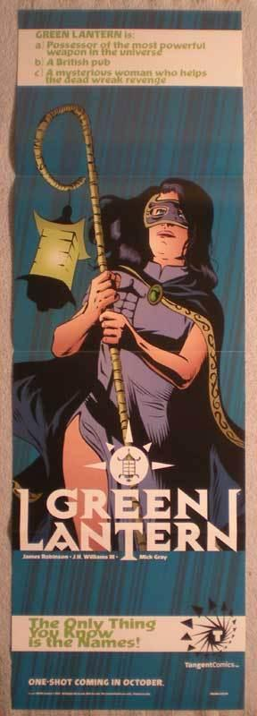 TANGENT GREEN LANTERN Promo poster, 11x34, 1997, Unused, more Promos in store