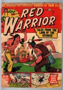 Red Warrior #2 1951-Atlas-Tom Gill art-Indians-P