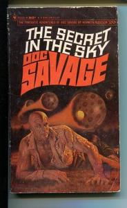 DOC SAVAGE-THE SECRET IN THE SKY-#20-ROBESON-VG- JAMES BAMA COVER-1ST EDITION VG