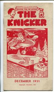 The Kicker 12/1931-pre comic book promo giveaway-Santa Claus-3 3/4 X 6 3/4-FN