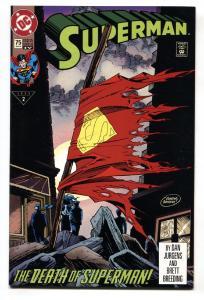 SUPERMAN #75-DEATH OF SUPERMAN- nm- -4th print