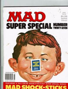 Mad Super Special # 27 Comic Book Magazine Comedy Parody Stamps Included J146