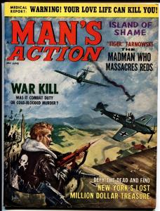 MANS ACTION-JUNE 1965-HORROR /FRANKENSTEIN CARTOONS-WW2 FN.