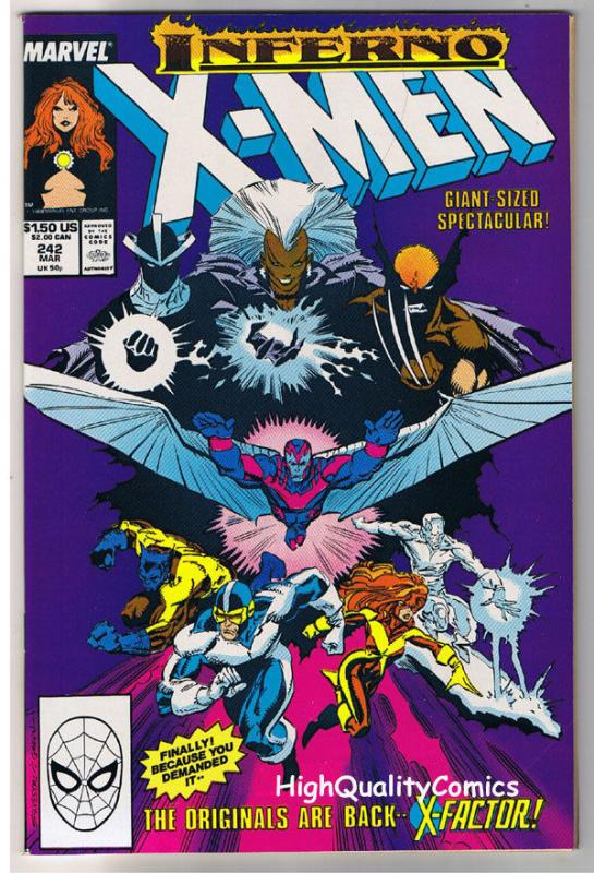 X-MEN #242, VF, Wolverine, Chris Claremont, Uncanny, more in store