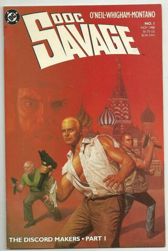 DOC SAVAGE #1, NM-, Kubert, Man of Bronze, 1988, more DC in store
