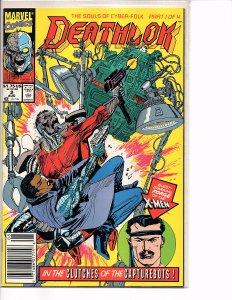 Marvel Comics Deathlok #2 Dwayne McDuffie NM Denys Cowan