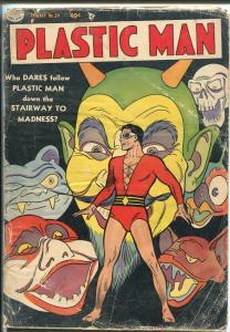 PLASTIC MAN  #39 1953-QUALITY-HORROR-SKULL-PRE-CODE-pr/fr