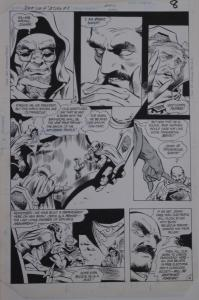 GENE COLAN / BOB McLEOD original art, JEMM SON of SATURN #8 pg 8, 11x 16,1985