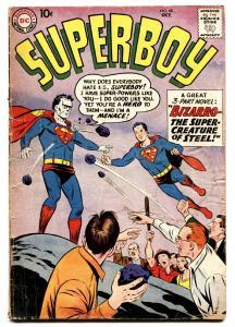Superboy #68 comic book 1958 DC - First Bizarro Silver-Age