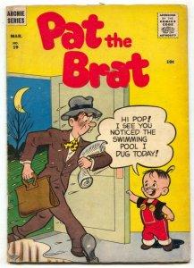 Pat The Brat #19 1957- Archie comics- VG-
