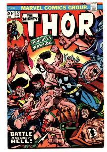 Thor #222 1974- comic book - MARVEL- Bronze Age- VF