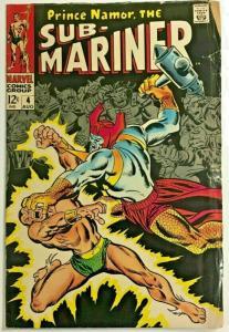 SUB-MARINER#4 GD/VG 1968 MARVEL SILVER AGE COMICS