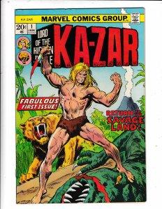 KA-ZAR#1  FN/VG   MARVEL COMICS  Save on shipping