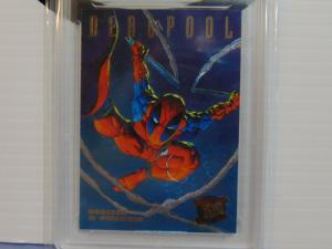 1995 Fleer Ultra X-Men Deadpool #3 Huntes & Stalkers Foil Insert Card - Graded 7