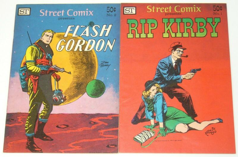 Street Comix #1-2 FN/VF complete series - rip kirby - flash gordon - 1973 set