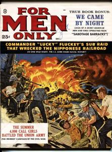 FOR MEN ONLY 12/1959 JAMES BAMA WW II BATTLE COVER