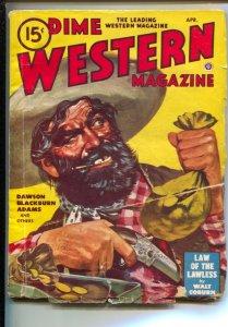 Dime Western-4/1948-Popular-Violent pulp fiction by Walt Coburn-Peter Dawson-...