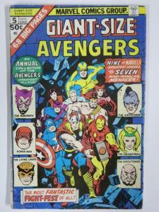 AVENGERS GIANT SIZE  5 GOOD  1975 COMICS BOOK