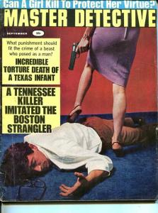 MASTER DETECTIVE-SEPT 1967-G/VG-MURDER-KIDNAP-RAPE-STRANGLING-SPICY- G/VG
