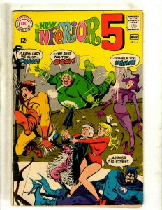 The New Inferior Five 5 # 7 FN DC Silver Age Comic Book Parody J462