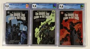 Batman The Doom That Came To Gotham 1 2 3 1-3 Cgc 9.8 White Pages Dc Comics