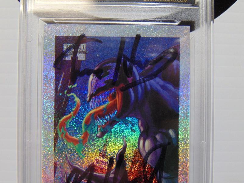 1994 Marvel Masterpieces #9 Venom Holofoil Signed Tim & Greg Hildebrandt Graded