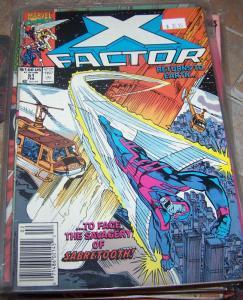 X-Factor # 51  feb 1990 marvel  + sabertooth archangel beast iceman