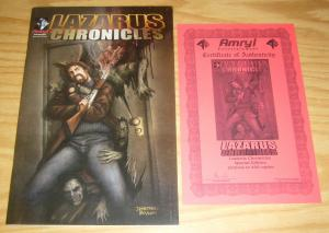 Lazarus Chronicles #1 VF amryl special edition w/COA (limited to 450) rare comic