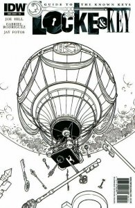 Locke & Key: Guide to the Known Keys #0 RETAILER INCENTIVE 1:100 SKETCH VARIANT